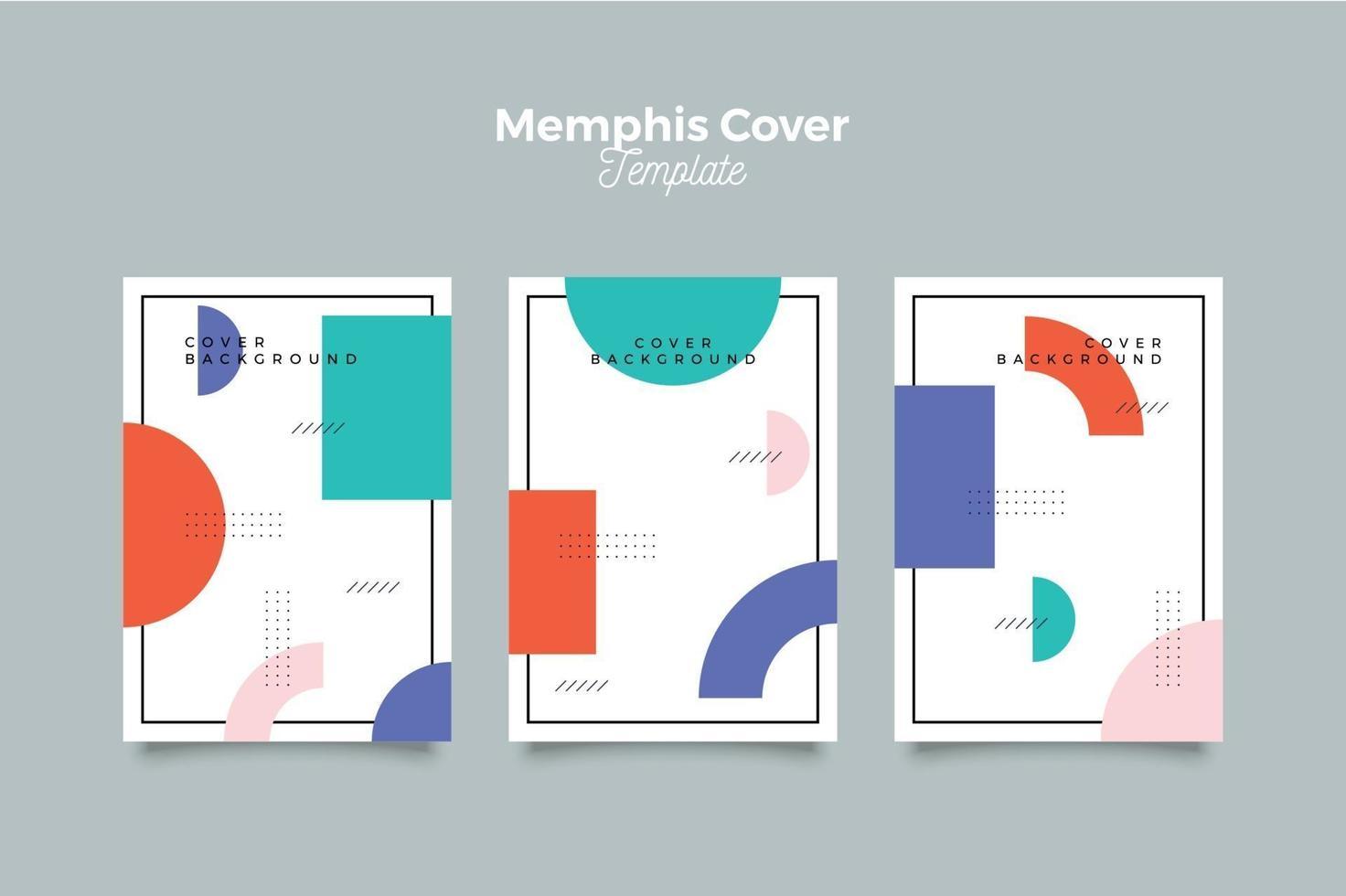 collection de couvertures memphis avec géométrique vecteur