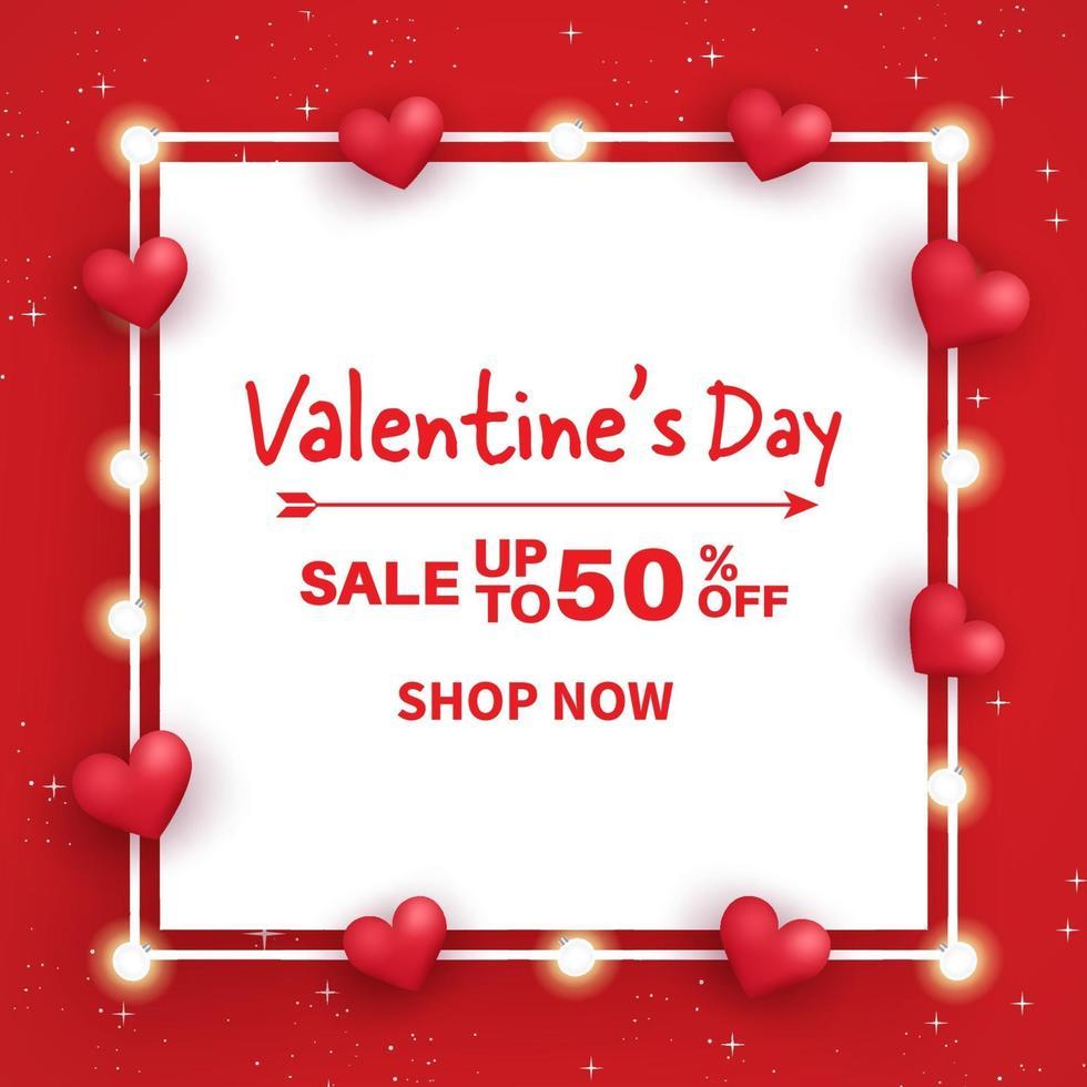 bannière de vente de la Saint-Valentin. vecteur