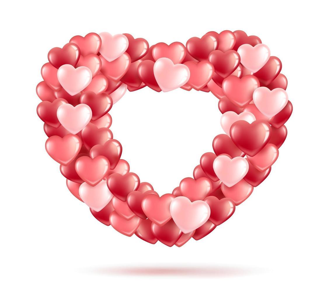 cadre coeur ballon vecteur