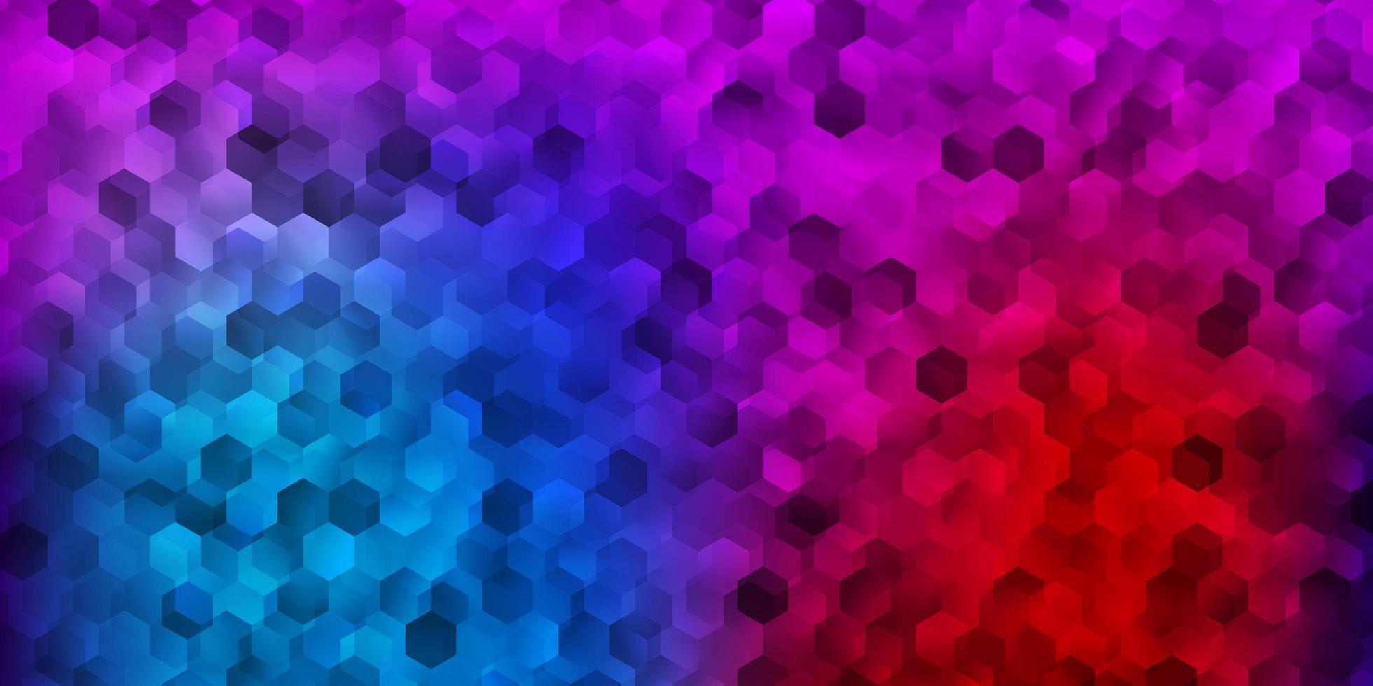 disposition de vecteur bleu clair, rouge avec des formes d'hexagones.