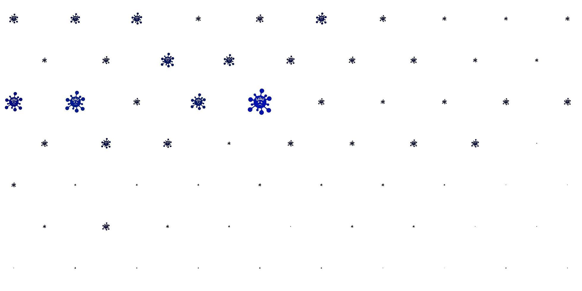 texture de vecteur bleu clair avec des symboles de la maladie.