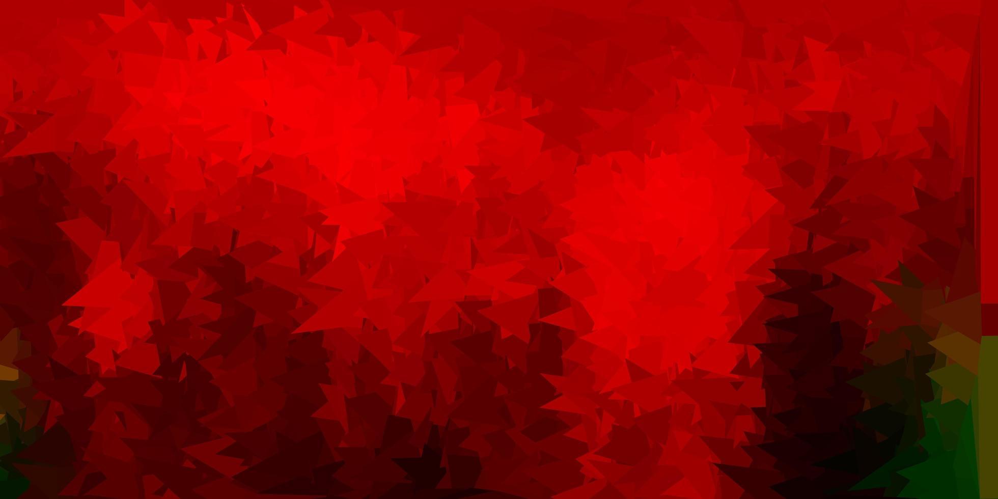 Texture de polygone dégradé vecteur vert foncé, rouge.