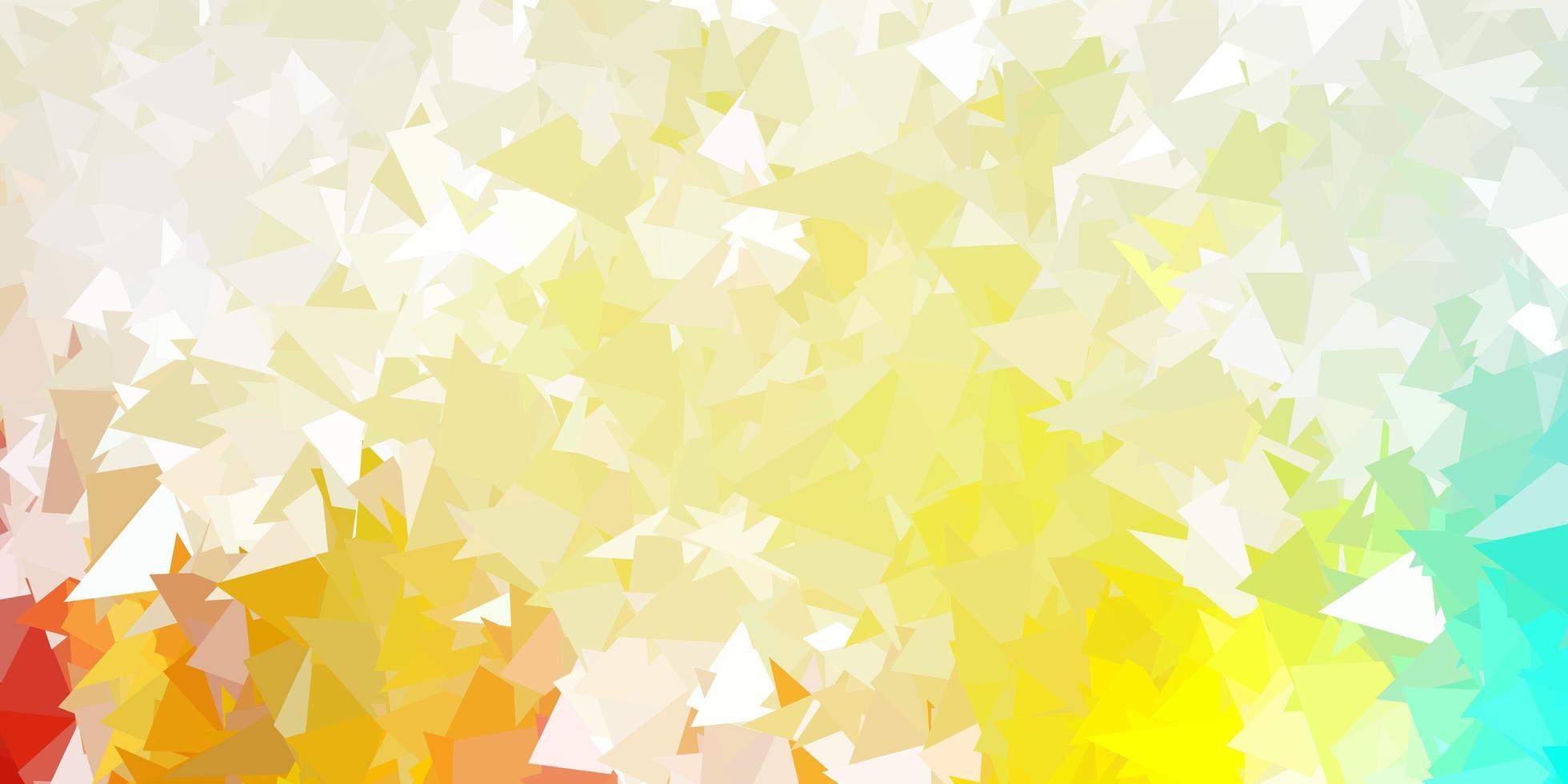 texture de triangle abstrait vecteur multicolore léger.