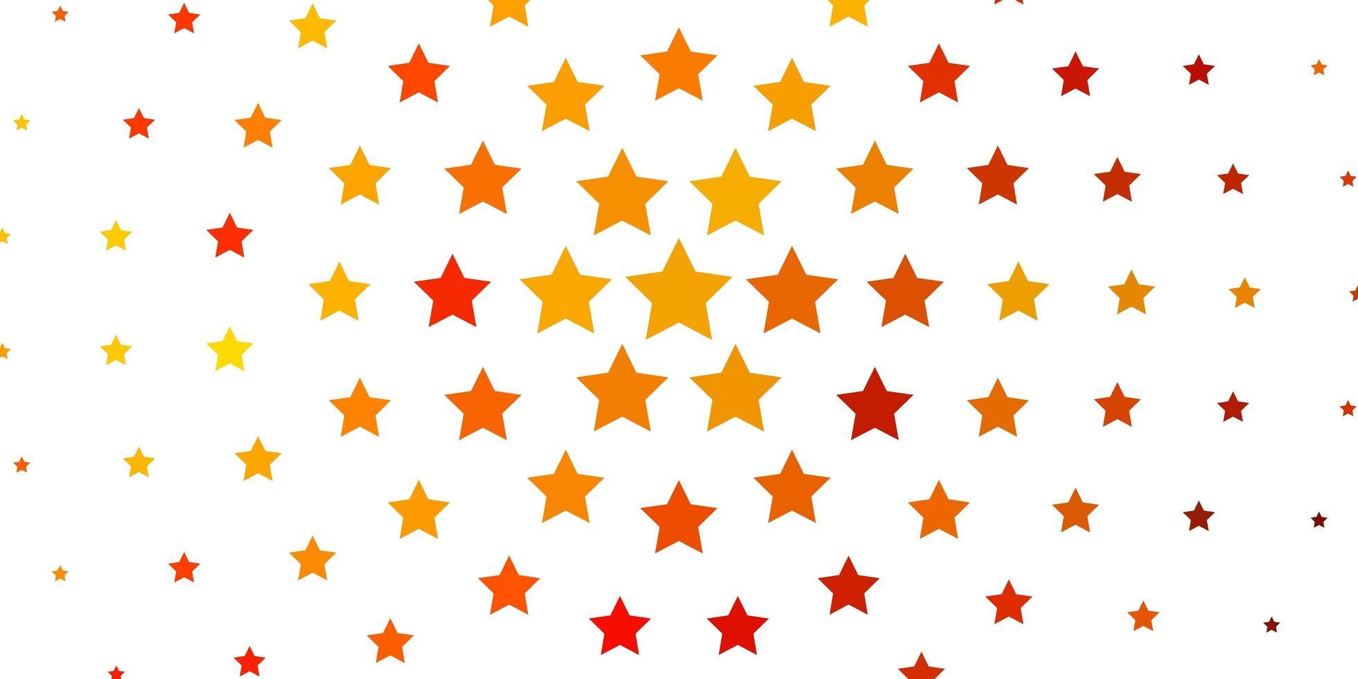 fond de vecteur jaune clair avec des étoiles colorées.
