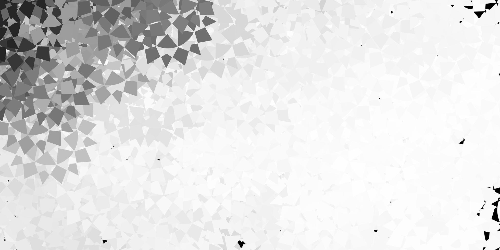 texture de vecteur gris clair avec des triangles aléatoires.