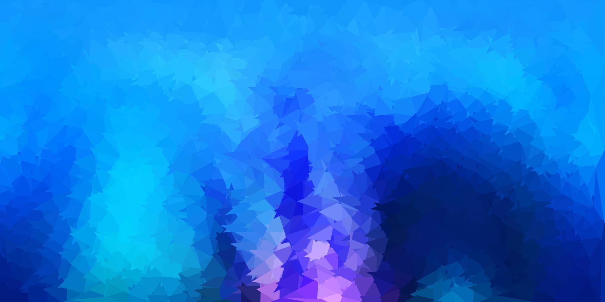 modèle de triangle poly vector rose foncé, bleu.