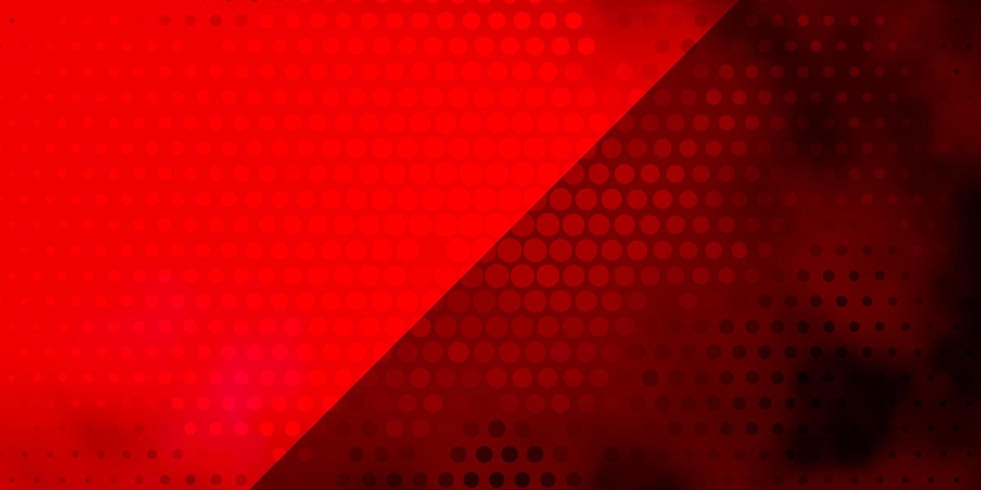 fond de vecteur rose clair, rouge avec des cercles.