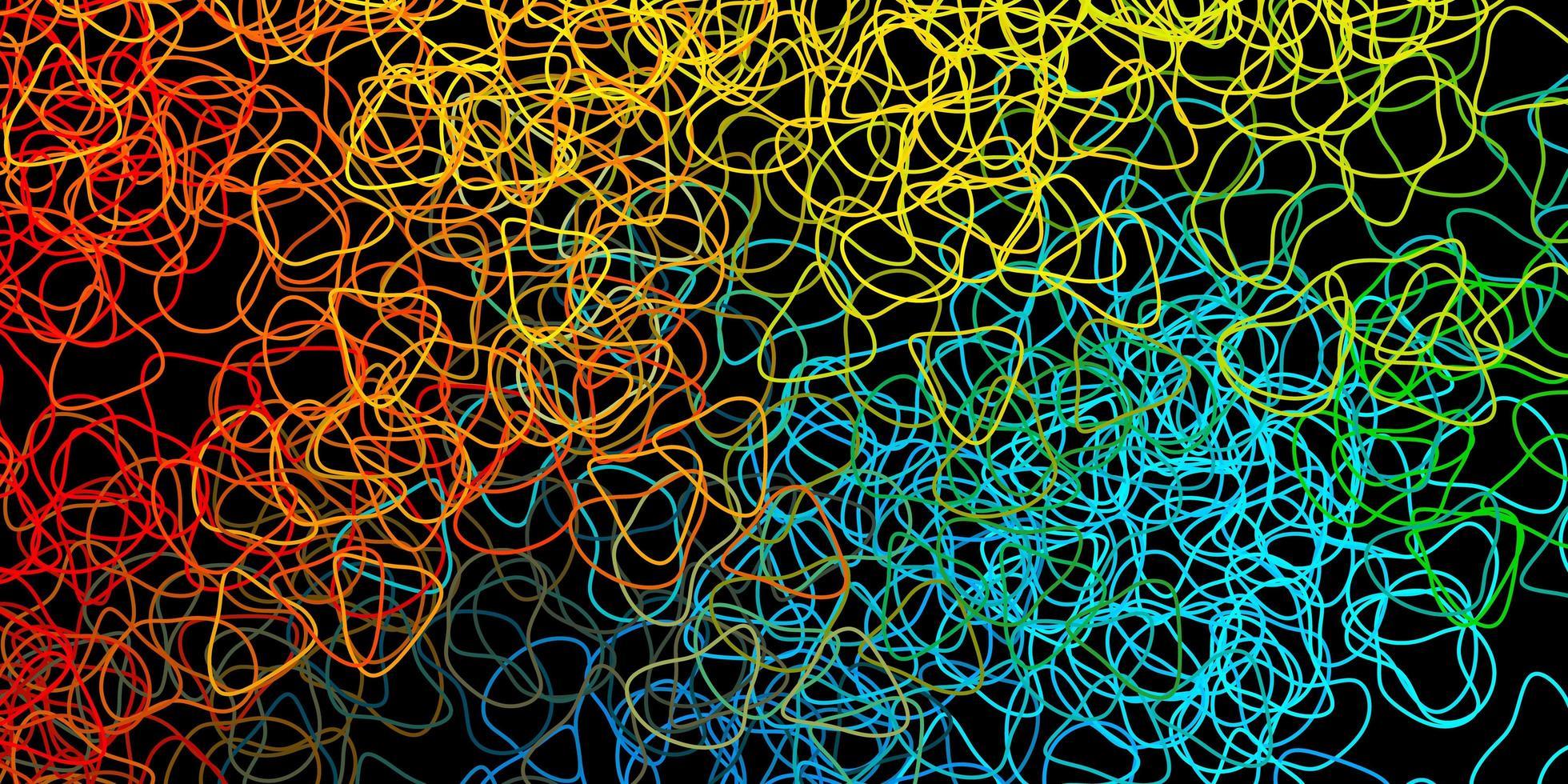 fond de vecteur bleu foncé, jaune avec des formes aléatoires.