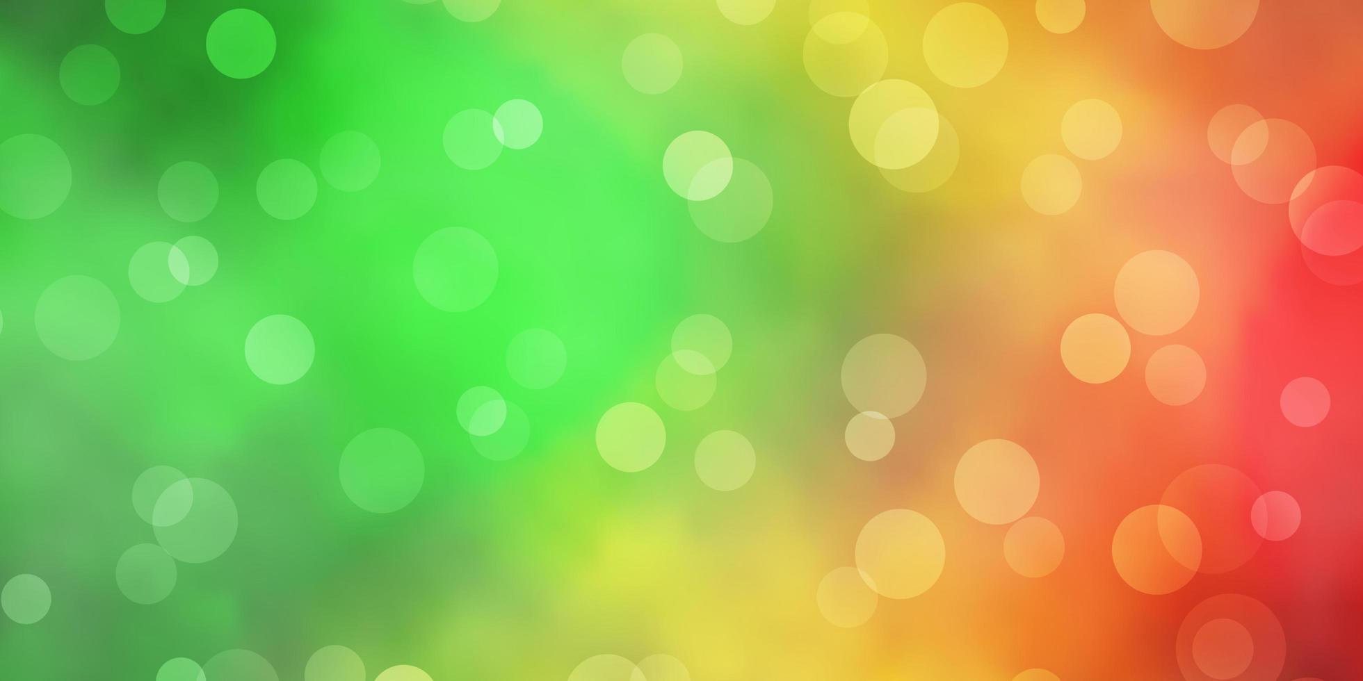 toile de fond de vecteur vert foncé, jaune avec des cercles.