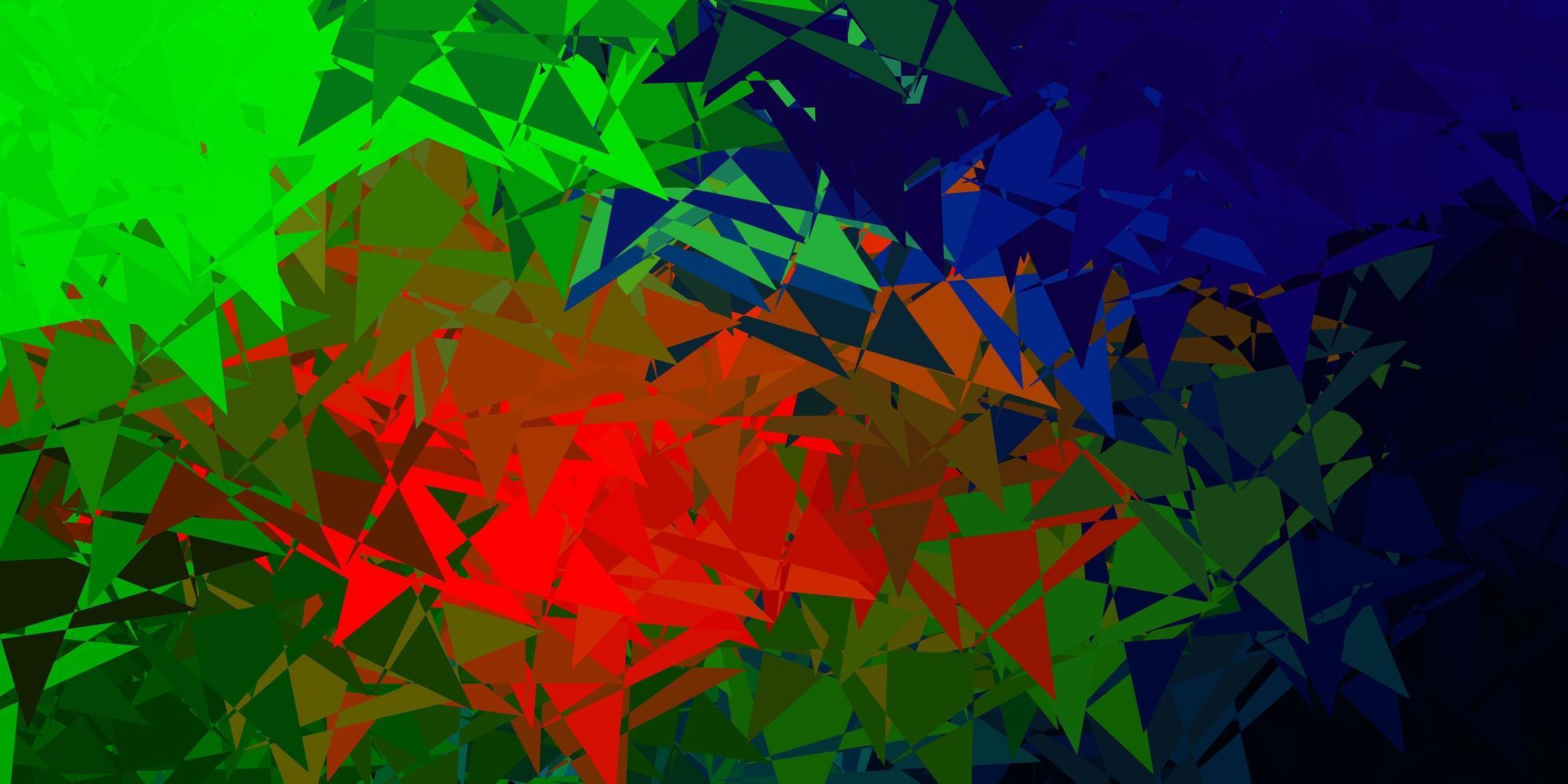 fond de vecteur multicolore sombre avec des triangles.