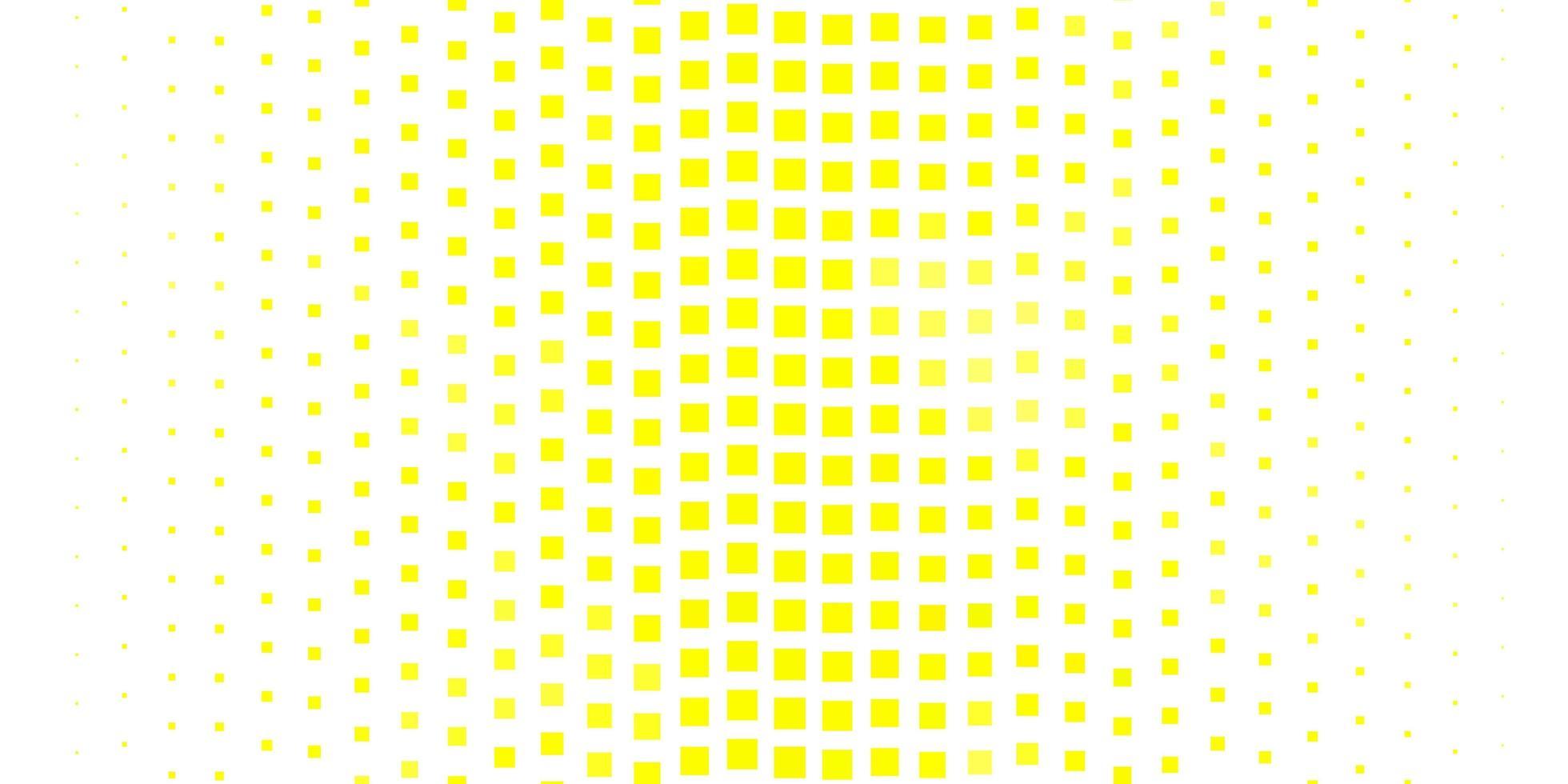 texture vecteur jaune clair dans un style rectangulaire.