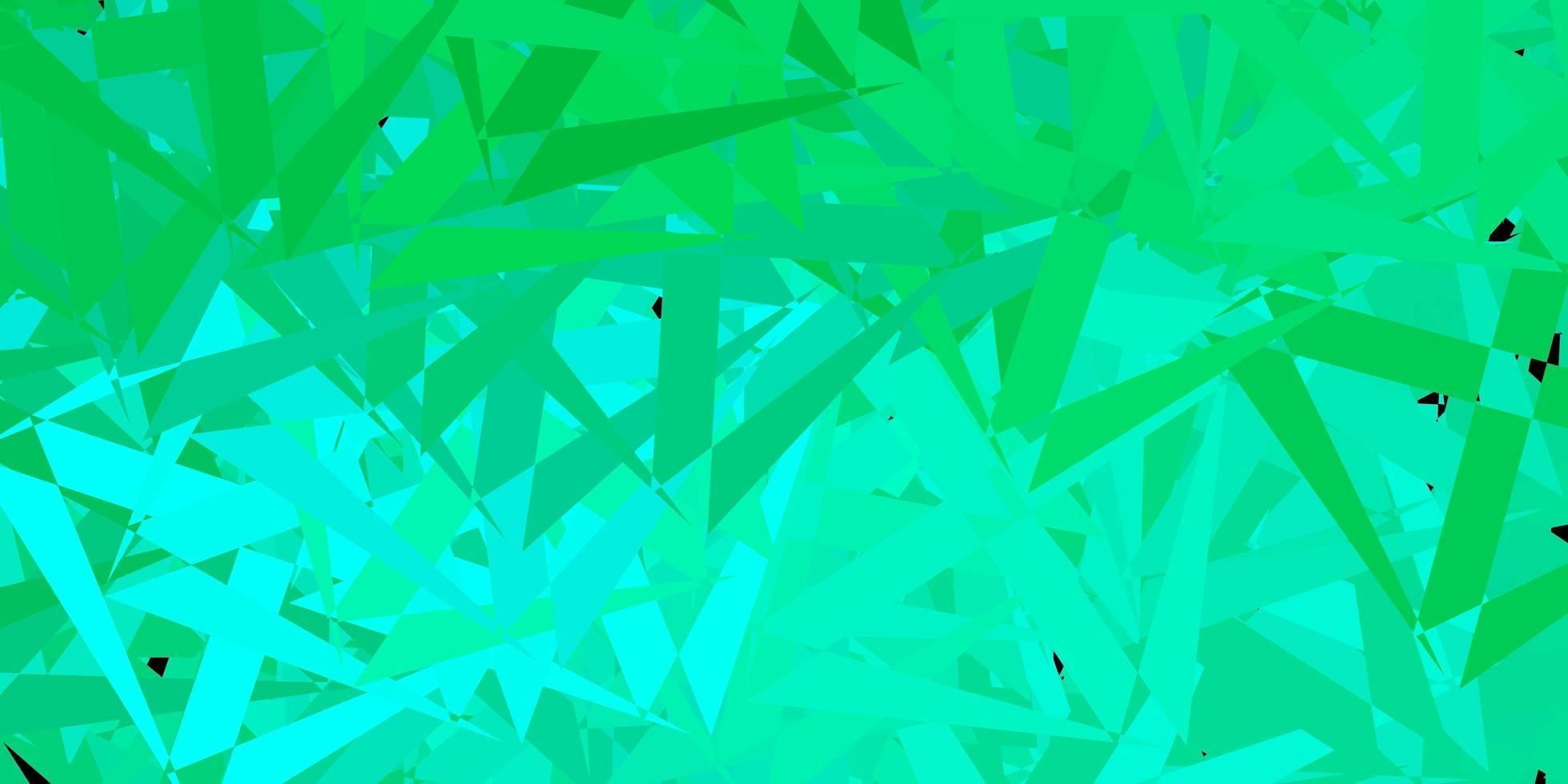 fond de vecteur vert clair avec des triangles.