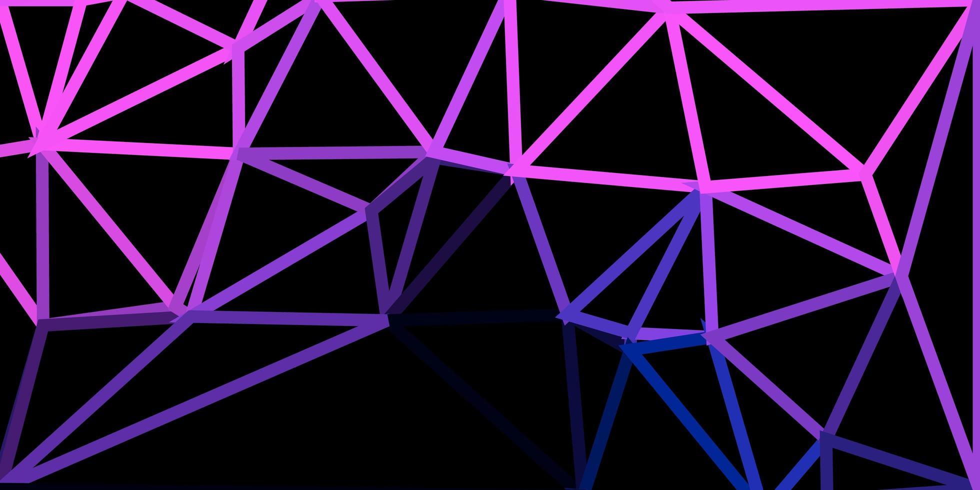 Disposition de polygone dégradé de vecteur rose foncé, bleu.