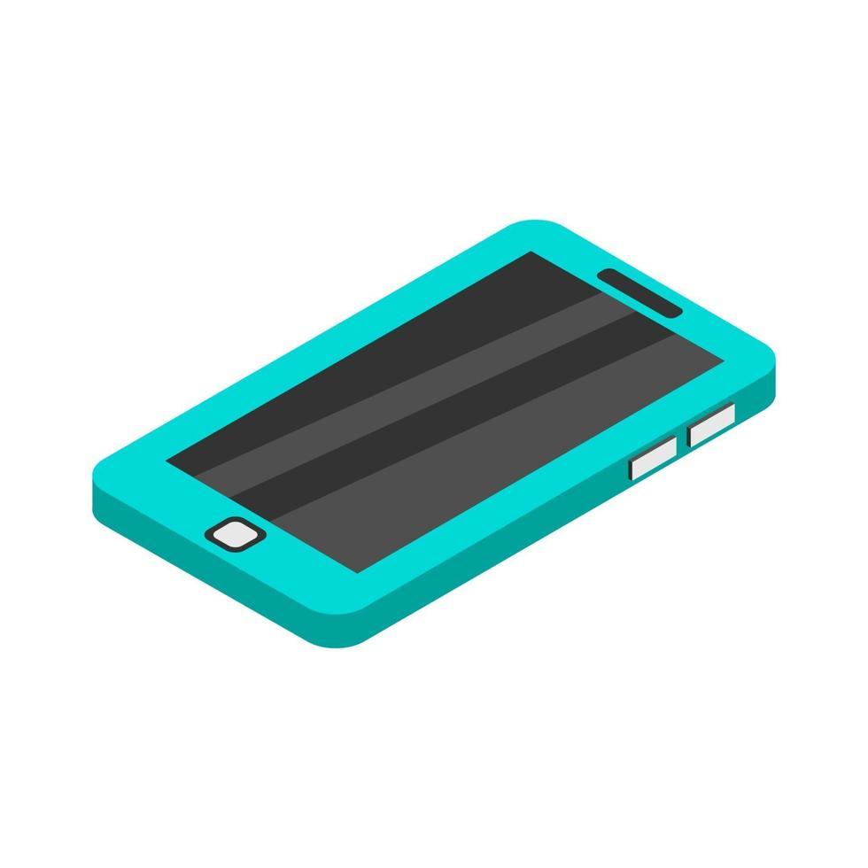 smartphone isométrique illustré sur fond blanc vecteur