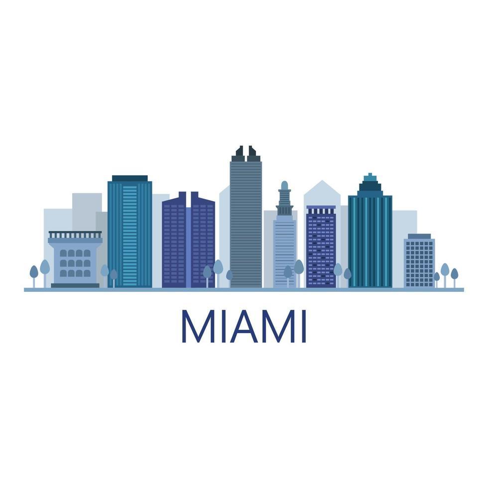 Skyline de Miami illustré sur fond vecteur