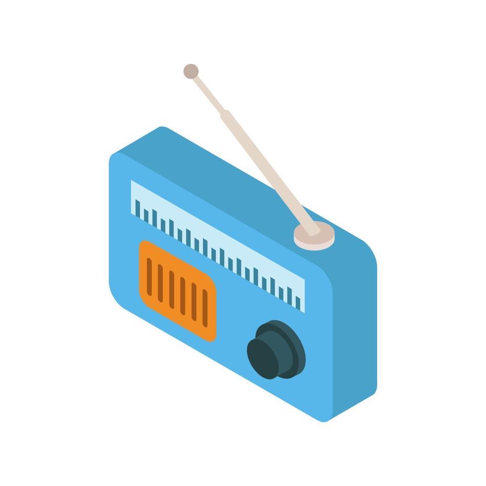 radio isométrique illustrée sur fond blanc vecteur
