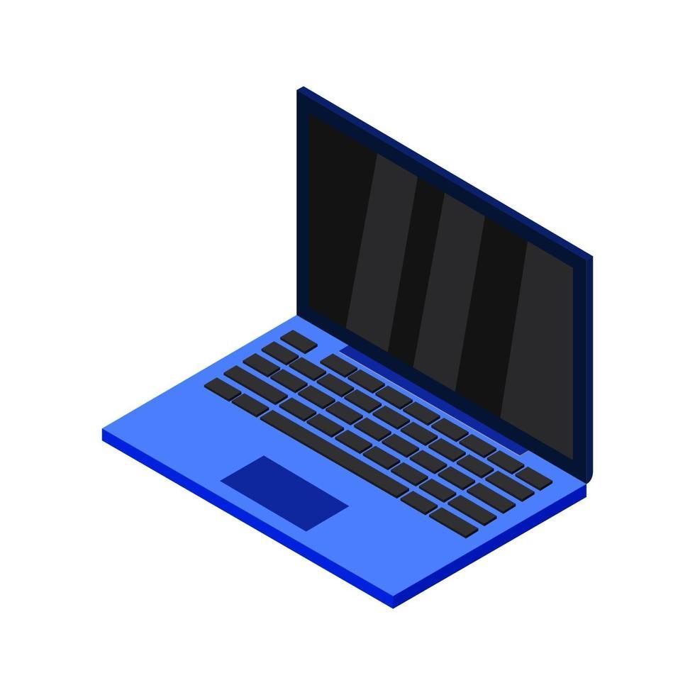 ordinateur portable isométrique illustré sur fond blanc vecteur