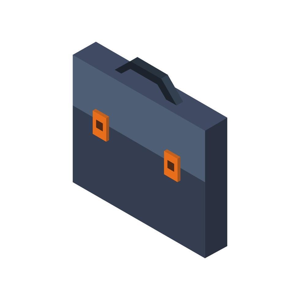 valise d'affaires isométrique illustrée sur fond blanc vecteur
