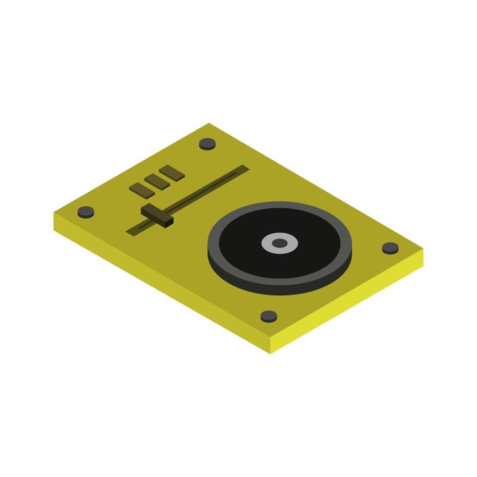 Mixeur DJ isométrique illustré sur fond blanc vecteur