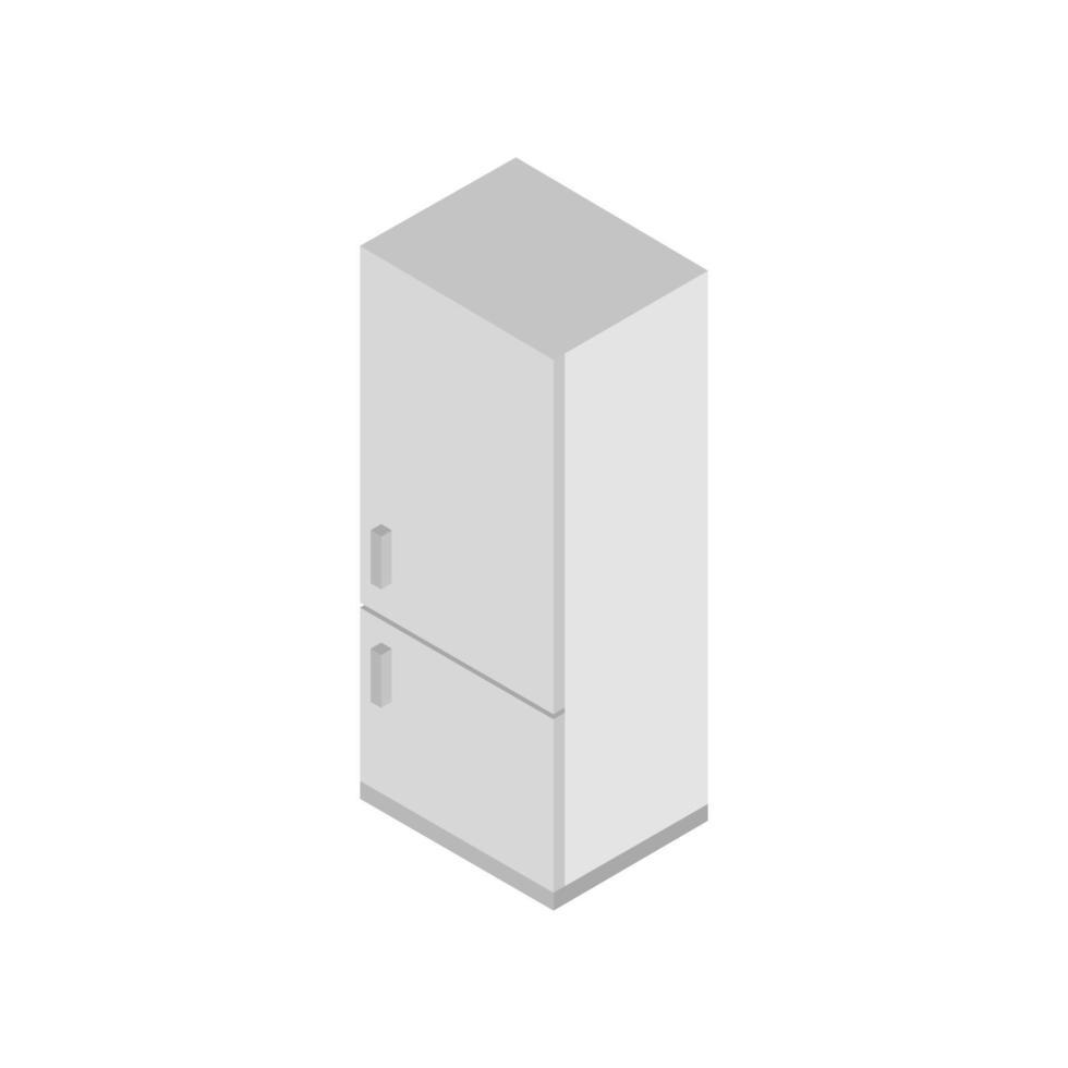 réfrigérateur isométrique illustré sur fond blanc vecteur