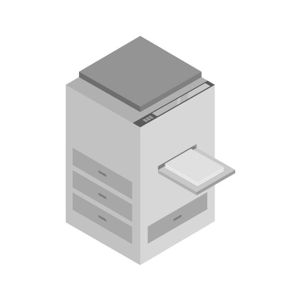 photocopieur isométrique illustré sur fond blanc vecteur