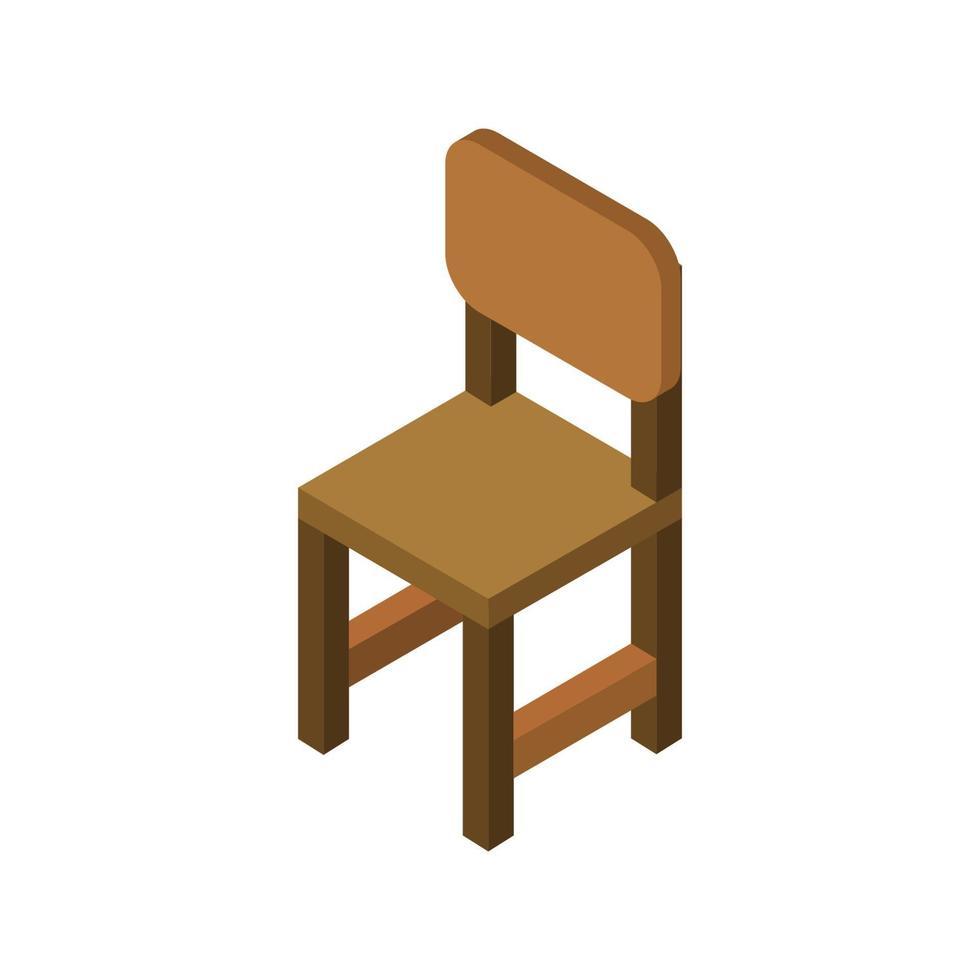 Chaise de bureau isométrique sur fond blanc vecteur