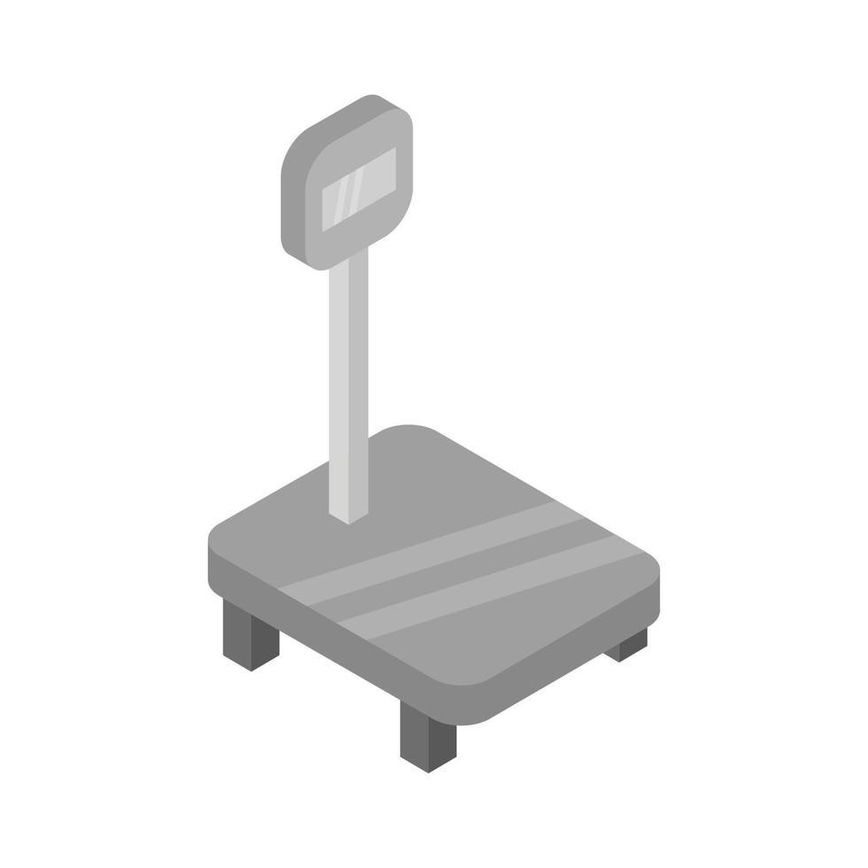 échelle numérique isométrique sur fond blanc vecteur