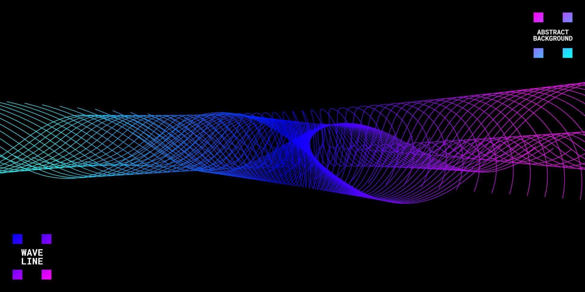 abstrait moderne avec des lignes ondulées colorées. vecteur
