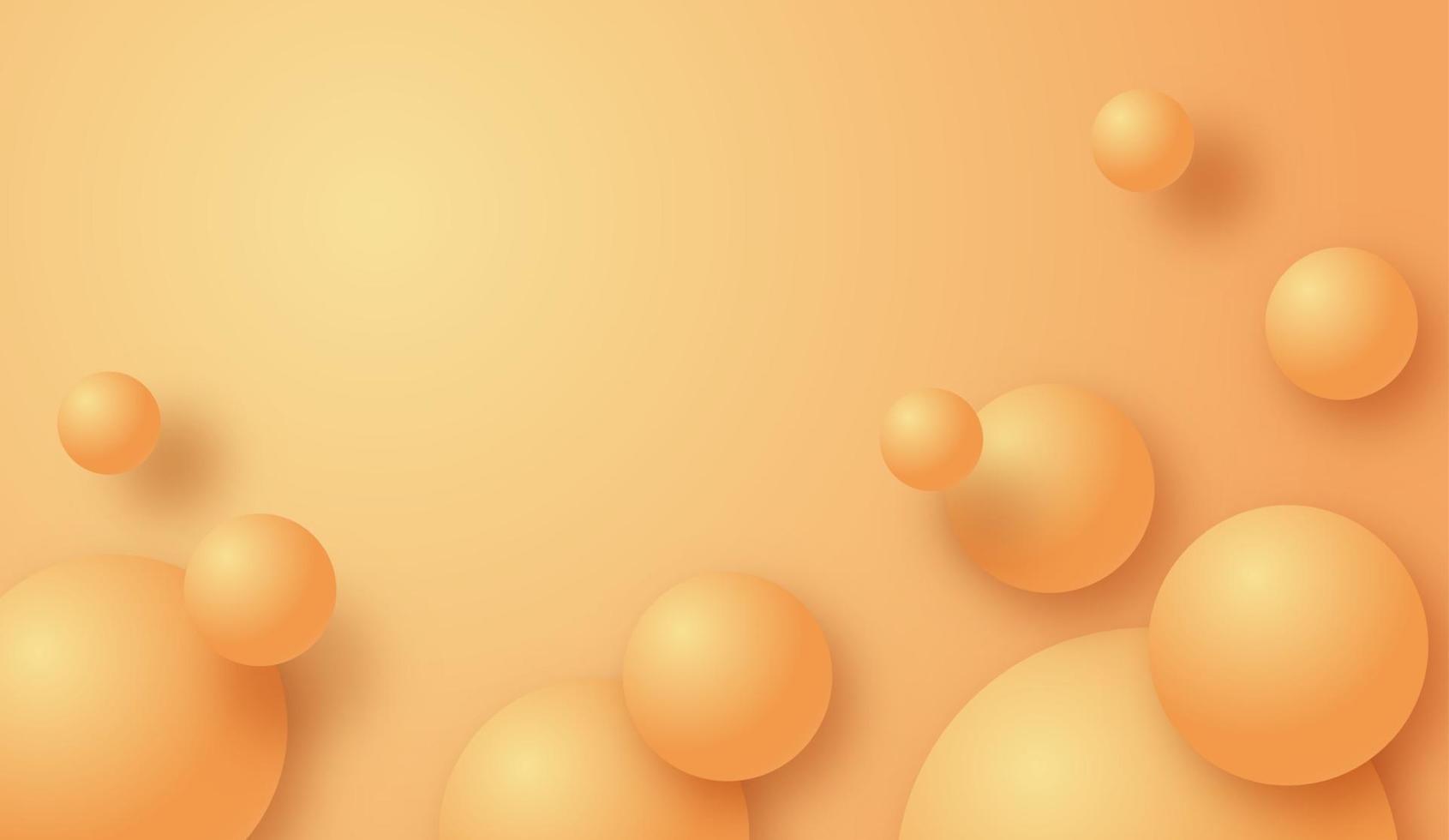 webabstract 3d fond de cercle rond moderne. bannière géométrique jaune. illustration de l'art vectoriel