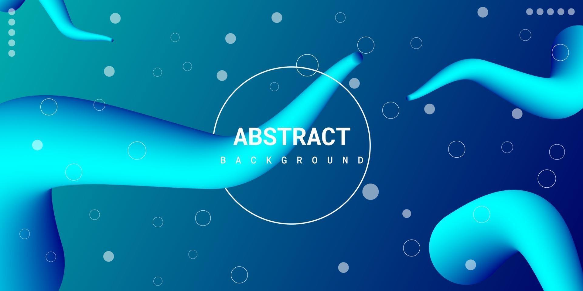 fond 3d liquide abstrait moderne avec dégradé bleu vecteur