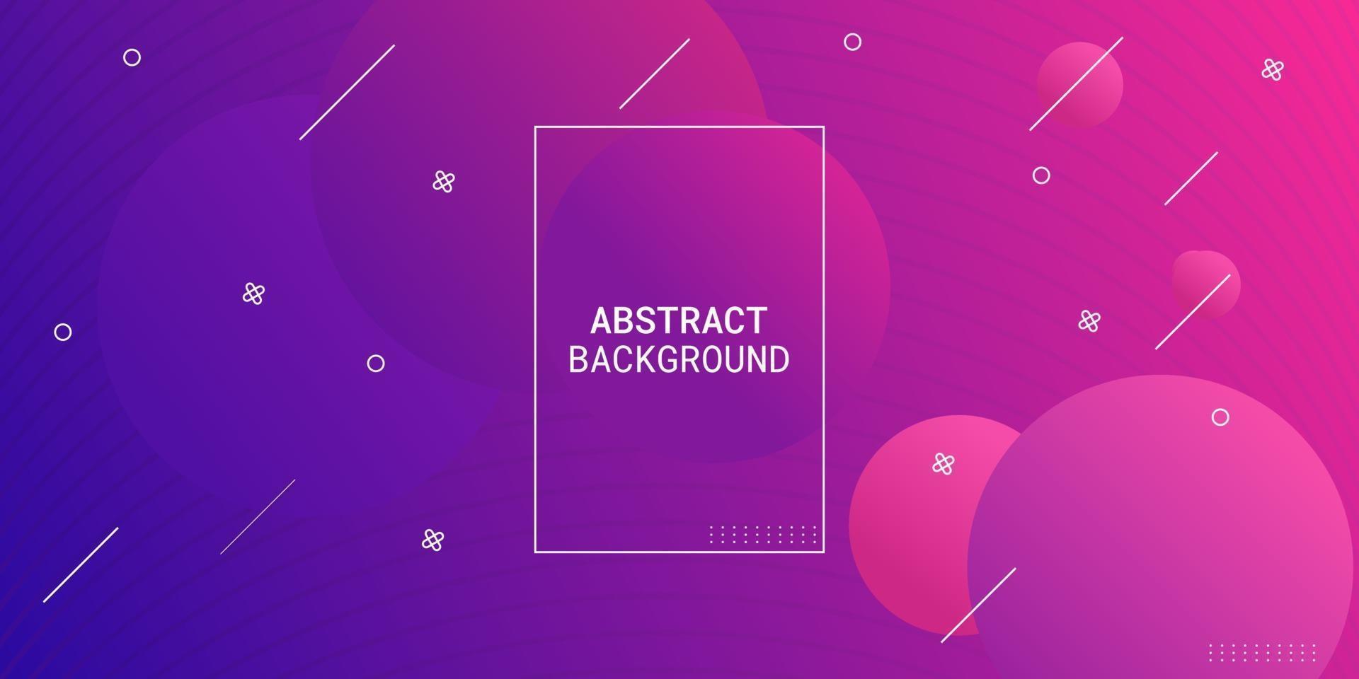 moderne abstrait violet et rose dégradé géométrique vecteur