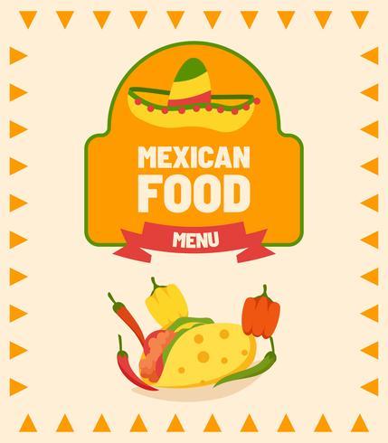 Vecteurs Menu Mexicain vecteur