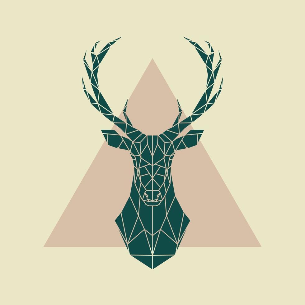 signe géométrique de cerf vert. illustration vectorielle. vecteur