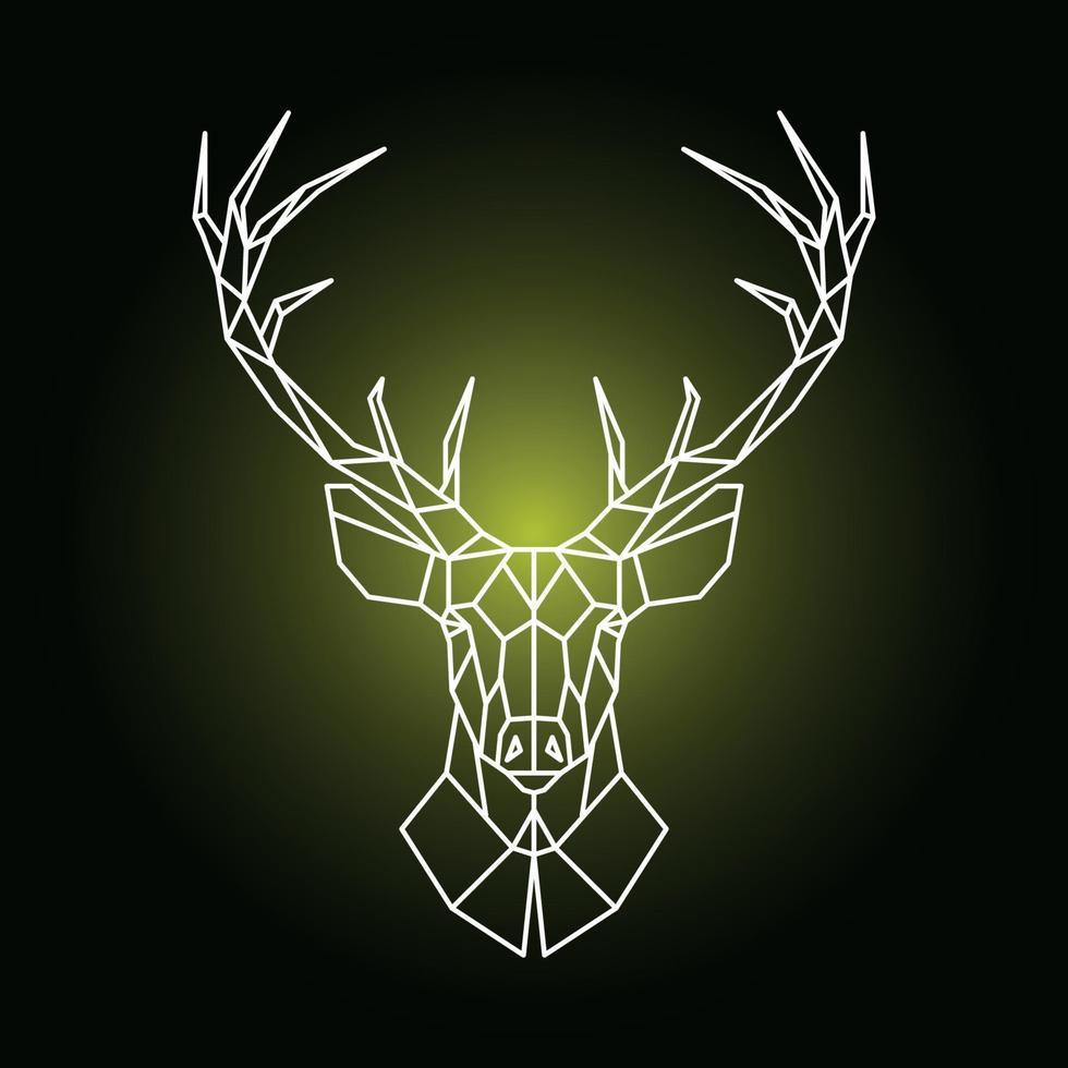 illustration de tête de renne géométrique. tête de cerf ornemental. vecteur