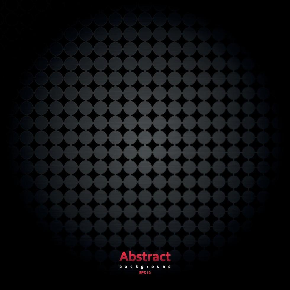 illustration vectorielle de grille en métal chromé avec des cercles. vecteur