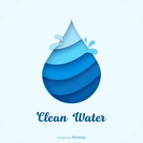 Concept de vecteur de plaidoyer pour l'eau propre