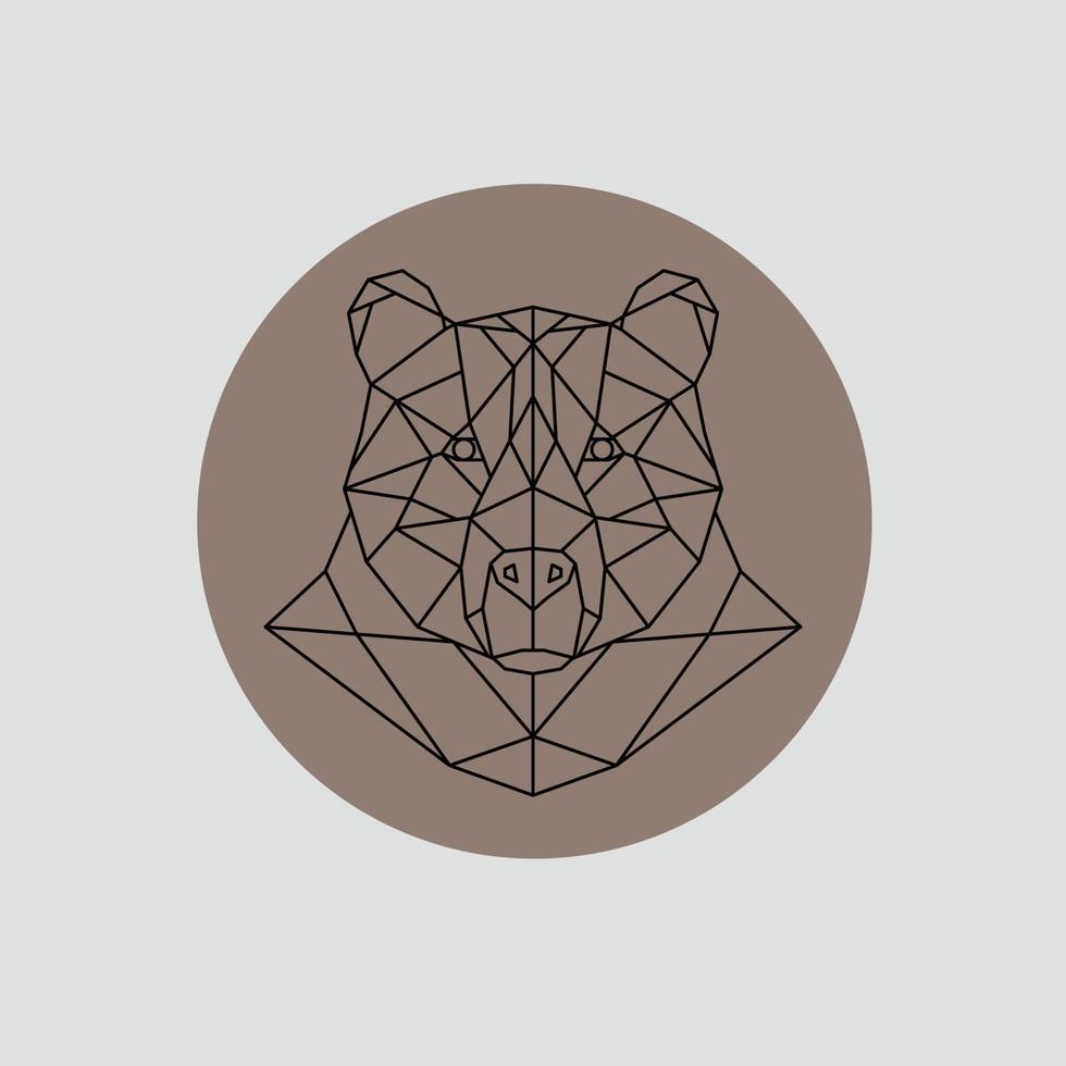 tête d'ours dans un style polygonal. vecteur