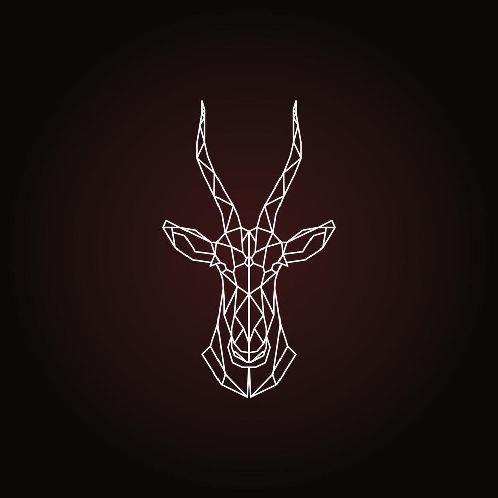 antilope tête géométrique abstraite de vecteur blesbok