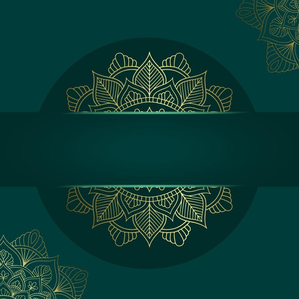 modèle de mandala avec des éléments élégants et classiques. idéal pour invitation, flyer, menu, brochure, arrière-plan vecteur premium