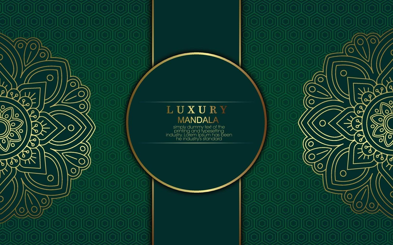 fond de mandala de luxe avec arabesque dorée vecteur