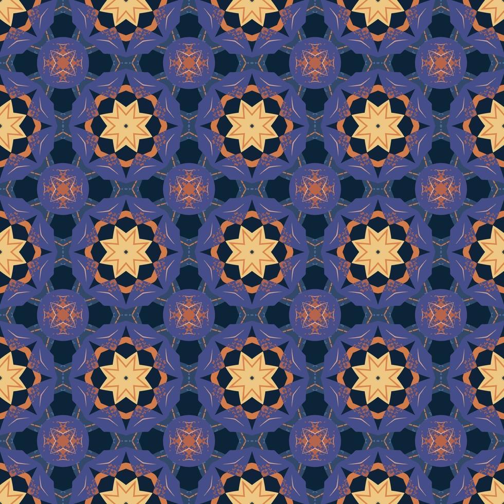 modèle sans couture avec illustration abstraite arabesque ornementale mandala. motif de carreaux classique décoratif. vecteur