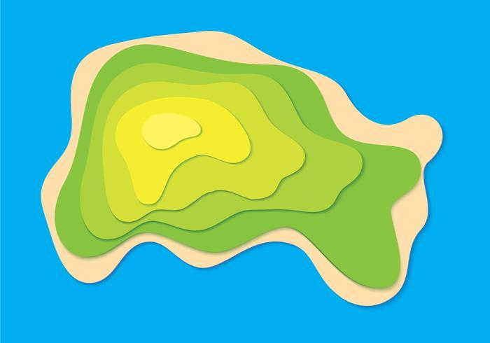 Topographie de l'île vecteur