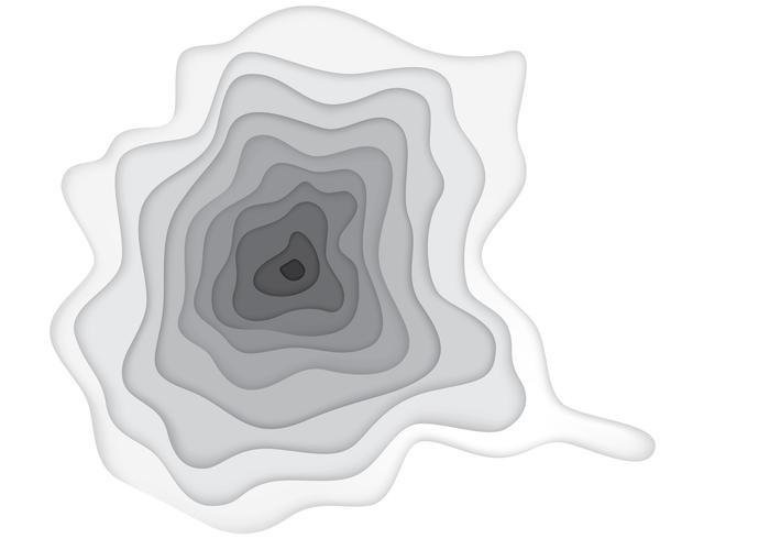 Illustration du trou de profondeur vecteur