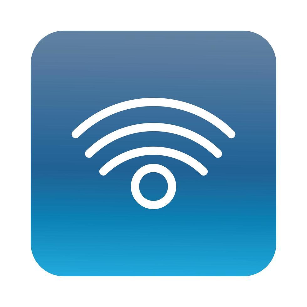 icône de style dégradé de bloc de signal de connexion wifi vecteur