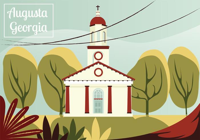 Conception de vecteur de carte postale Augusta Georigia
