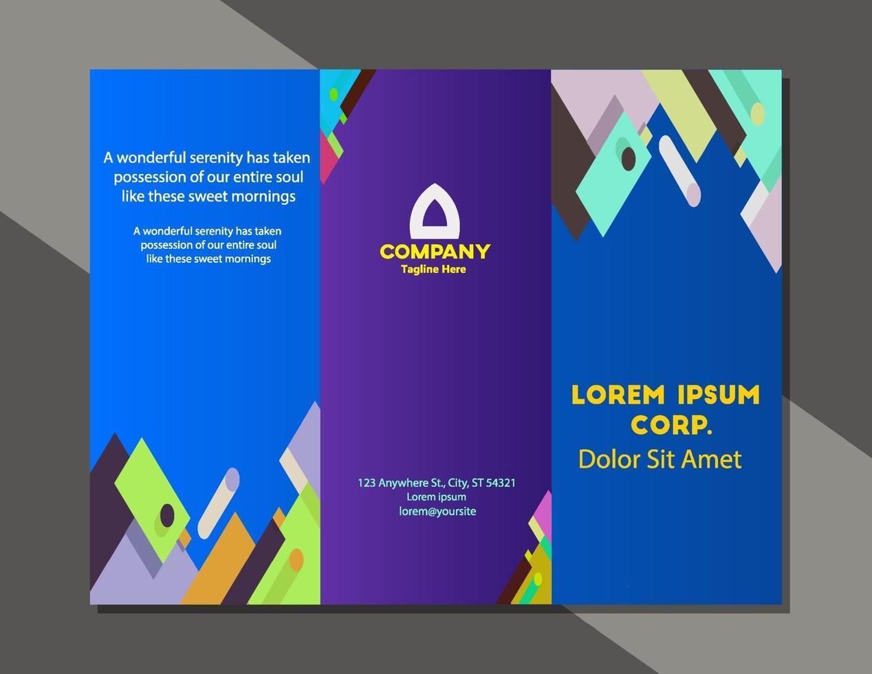 modèle de vecteur de mise en page de couverture de brochure entreprise design moderne et simple