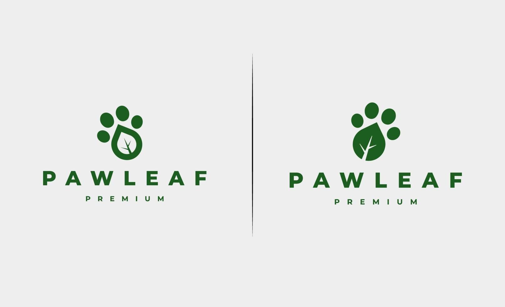illustration vectorielle de patte feuille pied impression logo design vecteur