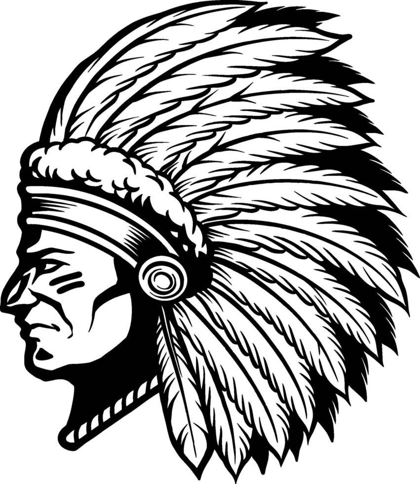 illustration amérindienne apache vecteur