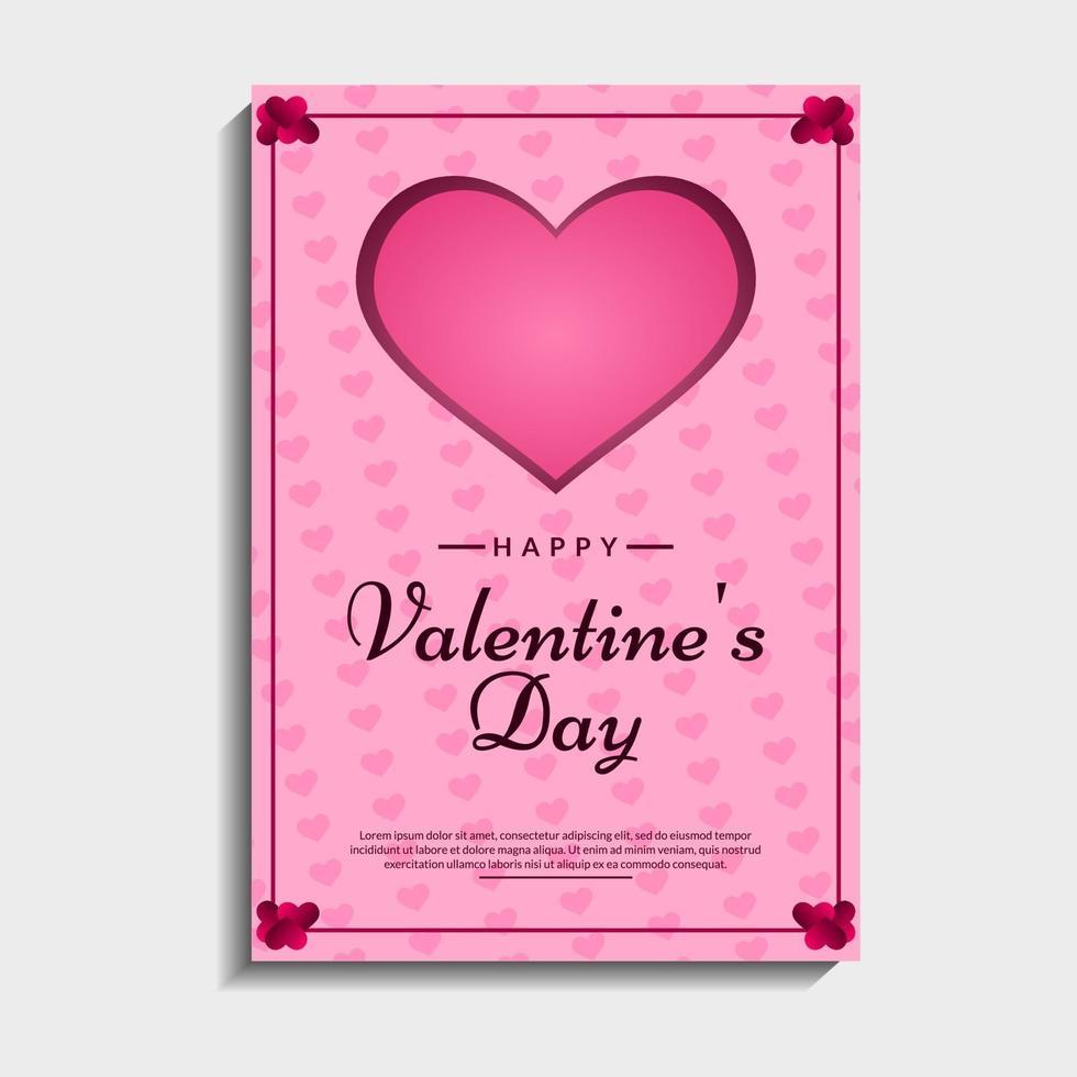 belle carte de valentine vecteur