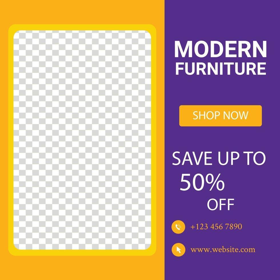 ensemble de modèle de bannière carrée minimale modifiable. convient aux publications sur les réseaux sociaux et aux publicités sur Internet illustration vectorielle vecteur